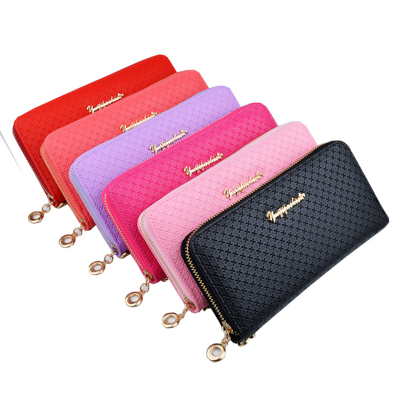 Latest Women zipper Long Wallet Female Coin Purse Change Clasp Purse Money Bag Card Holders Womens Wallets And Purses phone bag women wallet long zipper wallet high capacity crocodile grain female card package fashion hand bag change purse