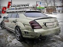 CARBON FIBER MERCEDES BENZ 2007-2012 W221 S-CLASS REAR WING TRUNK SPOILER carbon fiber rear roof spoiler lip for mercedes benz s class w221 s63 amg sedan 4 door 2007 2012 car styling