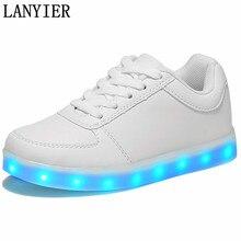 2017 человек загораются светодиодные светящиеся обувь цвет светящиеся случайные мода новые моделирование единственного заряда для мужчин взрослых неон корзина