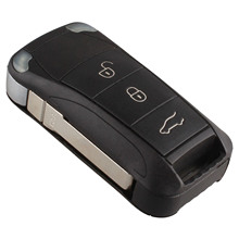 3 Buttons Auto Replacement Key Case Flip Folding Car Remote Shell Cover Fob For PORSCHE CAYENNE Covers Styling shell
