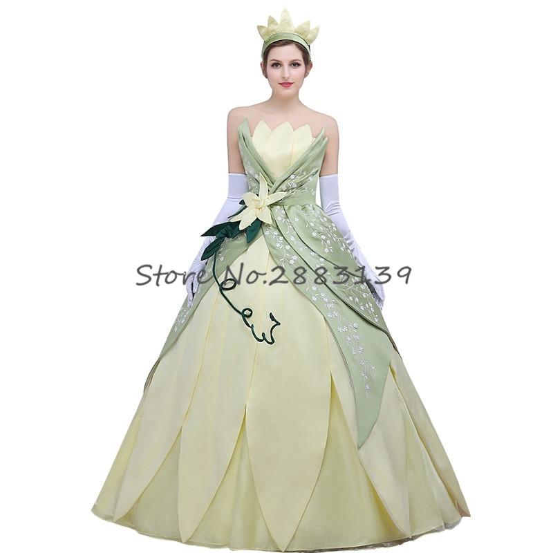 Princess Tiana Outfit: Custom Made Anime The Princess And The Frog Cosplay