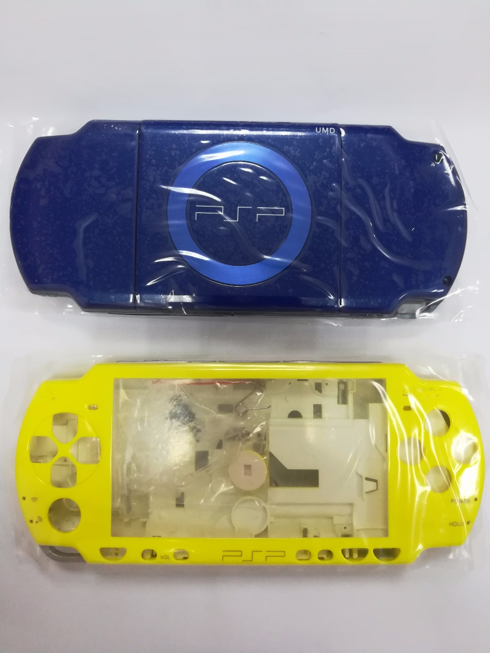 Blue Yellow Colors for PSP2000 PSP 2000 Game Console replacement full housing shell cover case with buttons kit