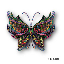 Mini Body Art Waterproof Temporary Tattoos For Women And Men Butterfly Design Flash Tattoo Sticker CC6101