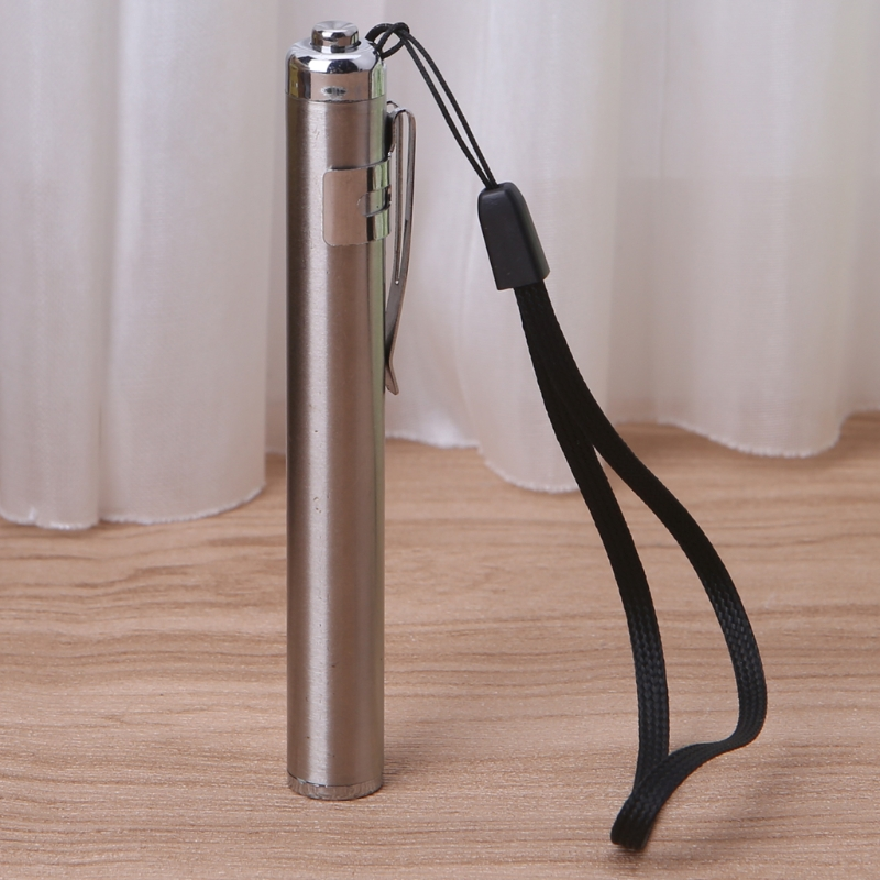 Round Moon Shape Flashlight Stainless Steel Mini LED Lights Focus Torch Lamp L15