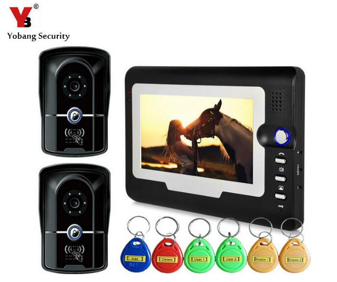 Yobang Security 7Visual Intercom Doorbell System Video Door Phone Access Control With RFID Keyfobs HD Door Monitor IR CameraYobang Security 7Visual Intercom Doorbell System Video Door Phone Access Control With RFID Keyfobs HD Door Monitor IR Camera