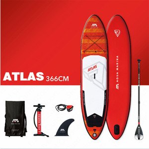 Image 2 - AQUA MARINA ATLAS Surfing Board New Surf Board SUP Surfboards Inflatable Surf Board Stand Up Paddleboard Surf Board 366*84*15cm
