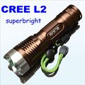 Супер яркий Высокой мощности Cree L2 led мощный фонарик алюминий 18650 аккумуляторная фонарик супер t6