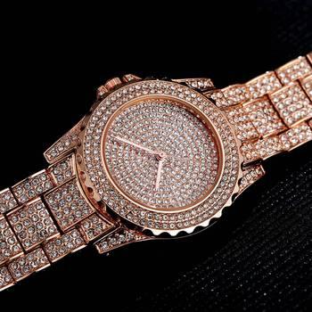 Women Quartz Watch Fashion Bling Casual Ladies Watch Female Quartz Gold Watch Crystal Diamond For Women Clock 2