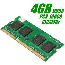 4GB DDR3 Memory Ram PC3-10600 1333MHz Non-ECC  in Memory Compatible Ram Low Density DIMM for Notebook Laptop PC 204 Pins