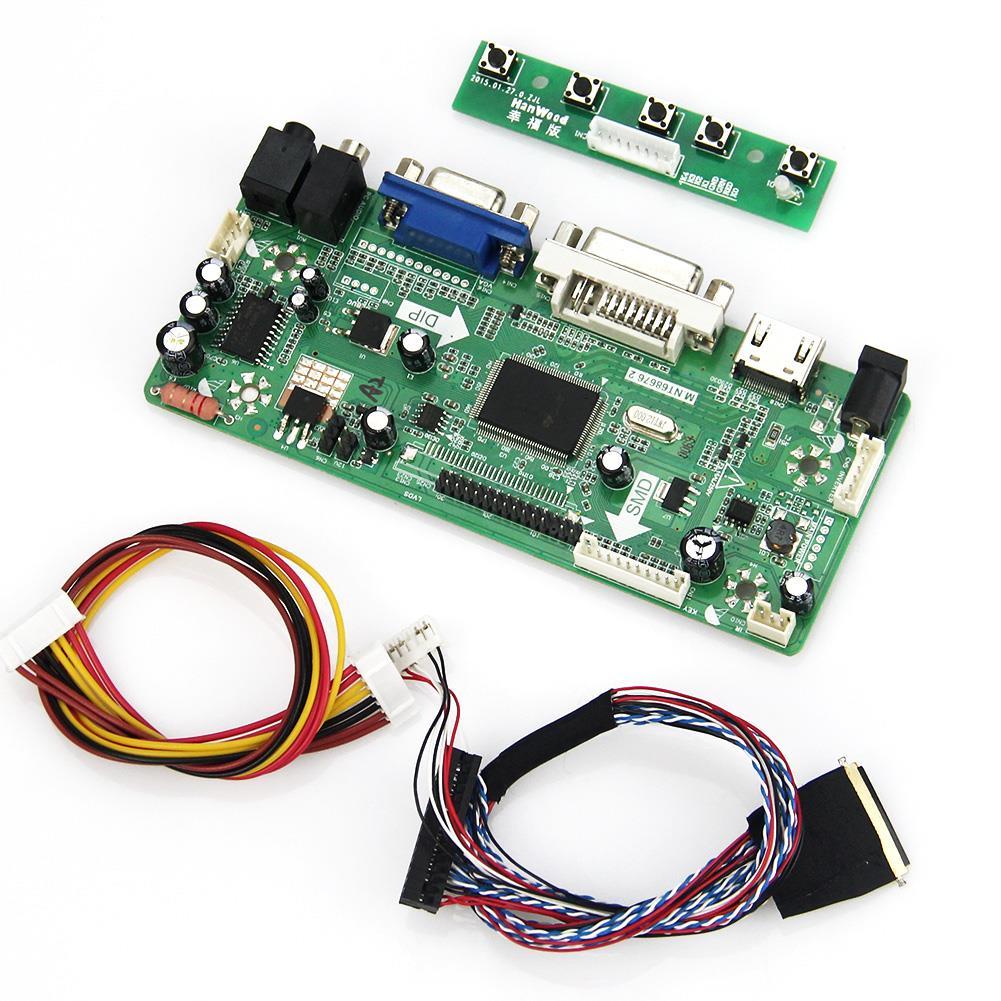 M.NT68676 LCD/LED Controller Driver Board For B156XW02 LTN156AT02 (HDMI+VGA+DVI+Audio)1366*768