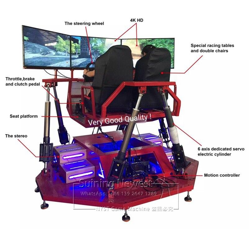 3 Screen Amusement Equipment Simulator 3D Video Coin Operated Drive Car Racing Arcade Game Machine 03