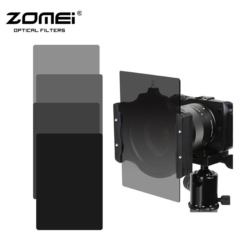 Zomei Square 100mm *150mm Neutral Density Filter Full Color Grey ND248+ND16 Set for Cokin Z pro. square resin full color filter for dslr blue