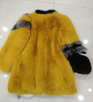 2017 New Arrival 100% Natural Fox Fur Coat, Women's Real Whole Skin Fox Fur Outerwear BE-1733 EMS Free Shipping 2