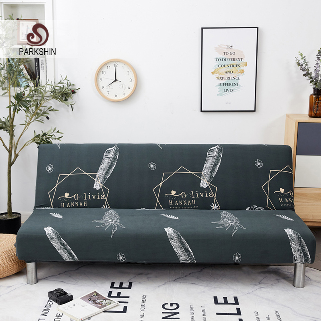 Parkshin Fashion All inclusive Folding Sofa Bed Cover Tight Wrap Sofa Towel Couch Cover Without Armrest housse de canap cubre