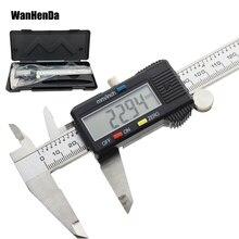 Wanhenda 150 мм Широкоэкранный цифровой суппорт нержавеющая сталь Электронный штангенциркуль Металл штангенциркуль инструмент измерения