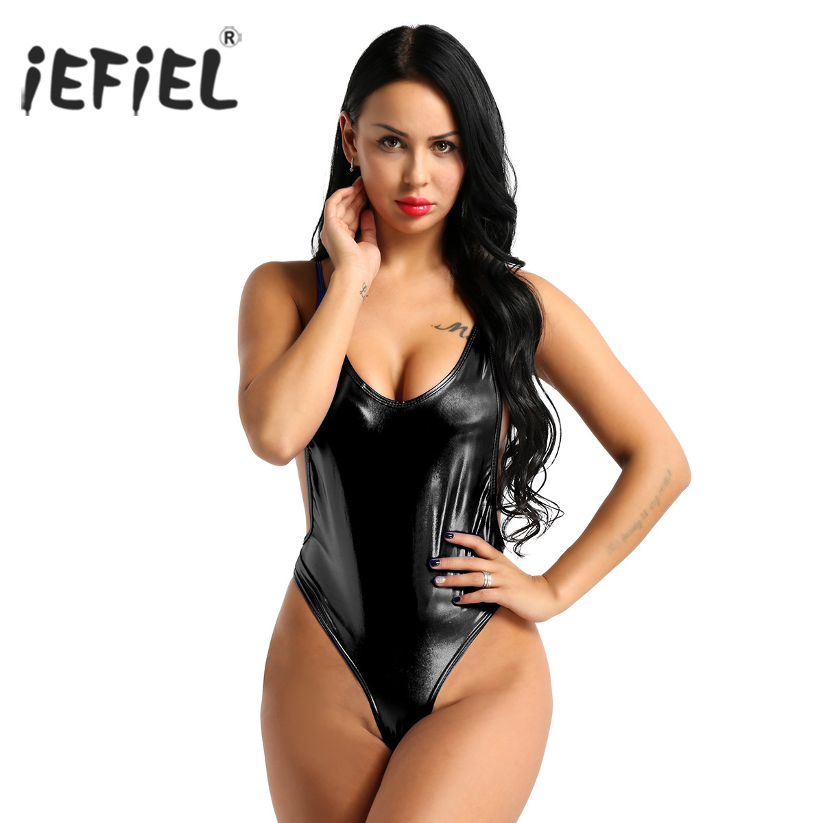 Luggage & Bags Sexy Women Pu Faux Leather High Cut Bodysuit Thong Swimsuit Erotic Leotard Costumes Latex Bodysuit Swimwear Club Wear Jumpsuit
