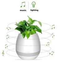 新加入のbluetoothスピーカースマート花のポット充電式防水スマートタッチ植物音楽演奏ワイヤレスポータブルスピーカ