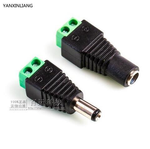 5Pair (5pcs female+5pcs male) Male Female 5.5 x 2.1mm DC Power 12V 24V Jack Adapter Connector Plug CCTV