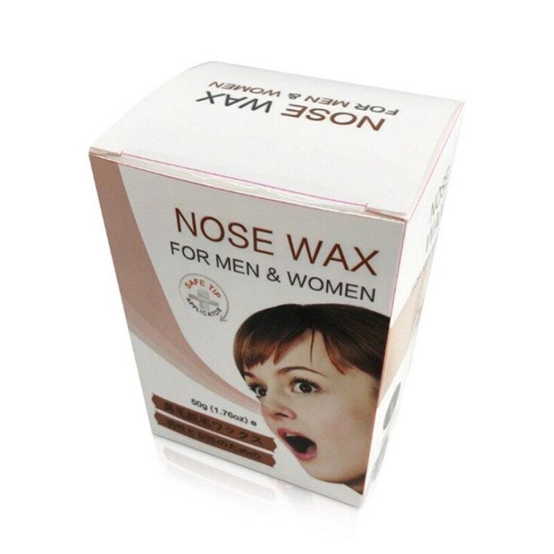 Tragbare Wachs Kit Nase 50g Männer Professional Hair Entfernung Wachs Sicherheit Nase Haar Trimmer Schmerzlos Perlen Schönheit Werkzeuge Haarentfernung Creme