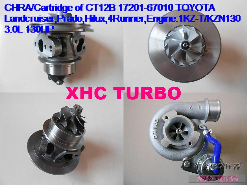 Новый CHRA картридж CT12B 17201 67010 67040 Турбокомпрессор для TOYOTA 4runner Landcruiser TD, 1KZ-TE 3.0L 125HP