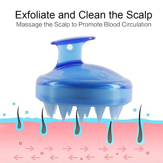 Drop Ship 1Pcs Salon Hair Brush Silicone Spa Shampoo Brush Shower Bath Comb Hairbrush Props Soft Styling Tool cepillo pelo 4