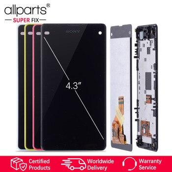 Оригинальный тачскрин дисплей экран для SONY Xperia Z1 сенсорный дисплей Оригинал LCD с тачскрином в рамке замена запчасти D5503 M51 Черный белый красн...