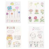 Cartoon Cute Flower Stamp DIY DIY Scrapbooking Card Embossing Transparent Stamp Handmade Decoration Supplies