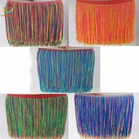 Fringe Tassel Various 100Yards Nylon Latin Dress Polyester Trimming Dancewear Macrame Sewing Lace Ribbon decoration 20CM