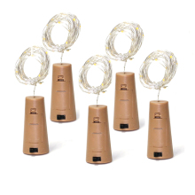 1 м 2 м медная проволока гирлянда пробка для бутылки светодиодная гирлянда для стеклянного ремесла светодиодная гирлянда для свадьбы, Рождества, дня рождения Decoratio
