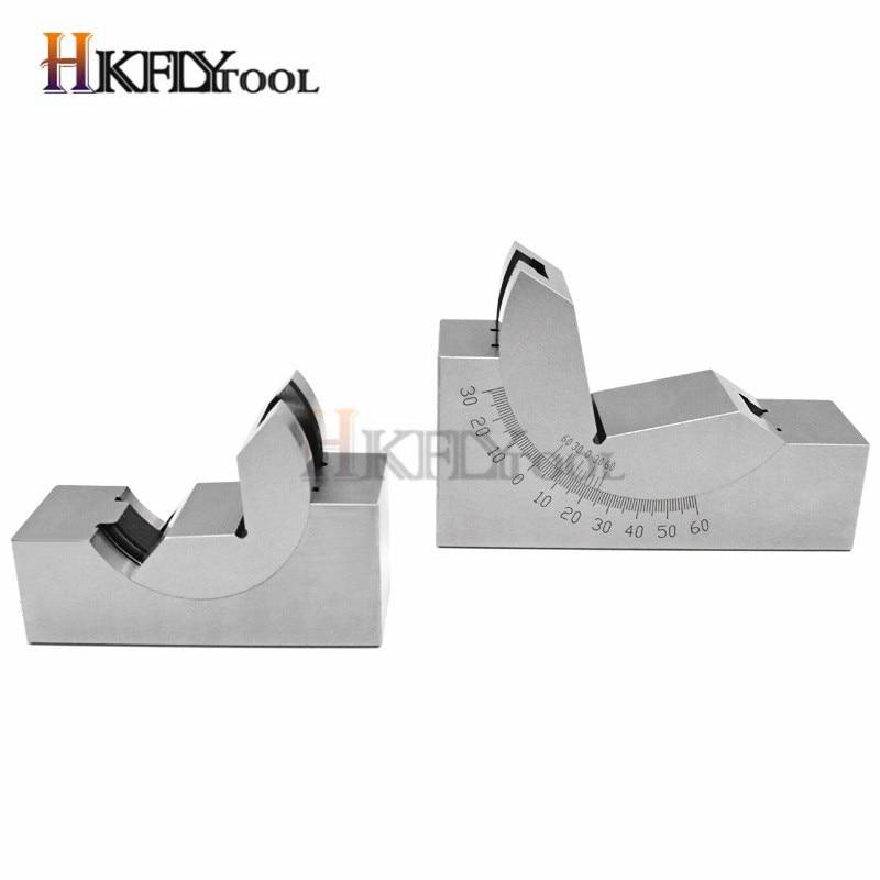New 75*25*32mm Toolmaker Precision Micro Adjustable Angle V Block Milling 0°~