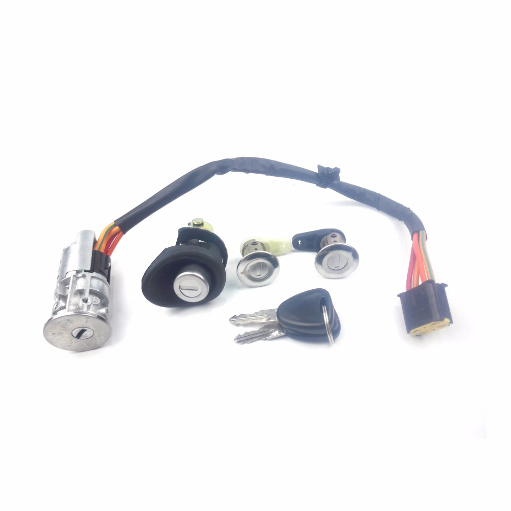 Car Ignition switch with auto Key Set for Renault Logan Dacia 25212348|Car Switches & Relays| |  -