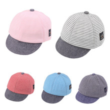 Unisex Kid Hats Girl Boy Cotton Stripe Cartoon Fashion Summer Casual Caps Newborn Baby Sun Baseball Caps Children Accessories