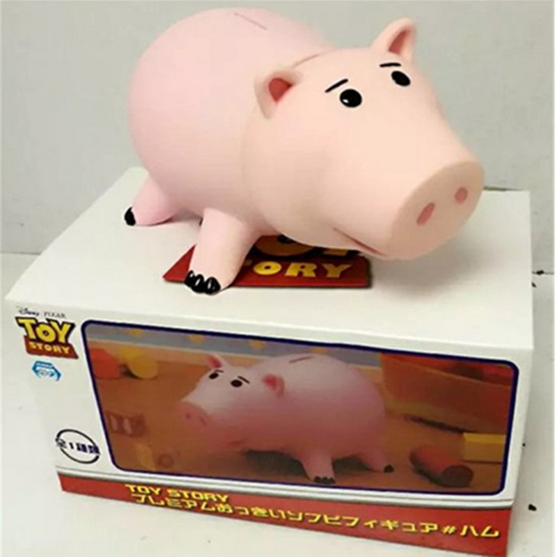 820cm Cute High Quality Toy Story Hamm Piggy Bank Pink Pig Coin Box Pvc Model Toys For Children With Box mother garden high quality wood toy wind story green tea wooden kitchen toys set