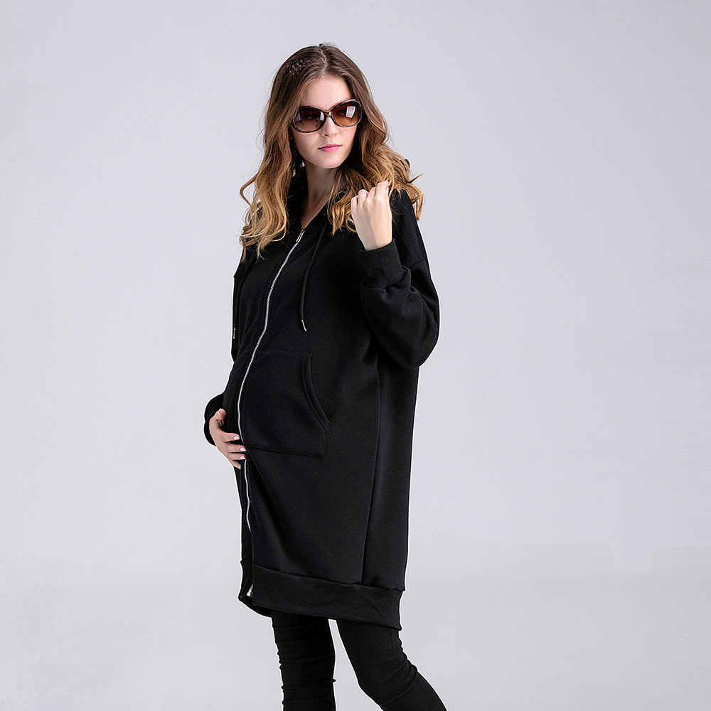 Fashion Maternity Hoodies Cotton Maternidade Hoodie Autumn Winter Pregnant Women Hoddies Sweatshirt Zipper Up Ropa De Maternidad hoodie side zipper hit color hoodies мужская мода спортивный костюм мужская толстовка с белым hoody mens purpose tour hoodie