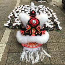 Foshan Australian Wool Lion Dance MASCOT Costume Wool Chinese Folk Art Southern Lion Two Adults Cosplay Party Game Advertising(China)