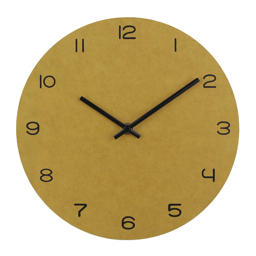 Colorful Wooden Wall Clock Slient Clock Art Watch Home Decor ...
