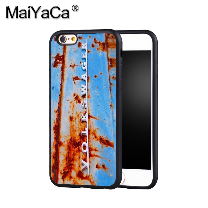 MaiYaCa Volkswagen VW Rusty Campervan Hippy Van Phone Case Cover For Iphone X 8 6 6S Plus 7 7 Plus 5 5S 5C 4S SE Mobile Case