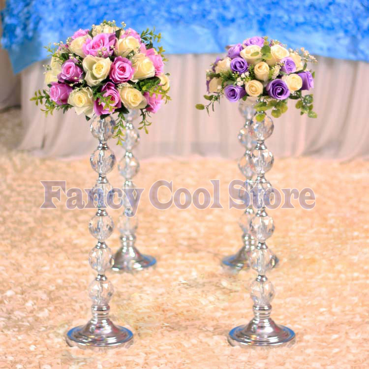 Cm h wedding flower stand crystal table centerpiece in
