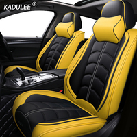KADULEE luxury leather car seat cover for mercedes benz c200 e300 w211 w203 w204 ML GLK GLA GL GLC C/E class Car Seats Protector