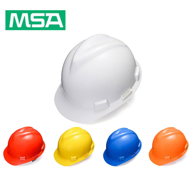 US $18 66 44% OFF|MSA Safety Helmet V Gard PE Material Type Hard Hat Work  Cap Construction Working Protective Helmets Security Labor Helmet-in Safety