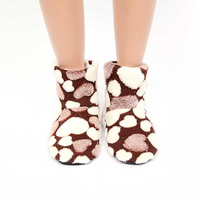 Mntrerm شبشب طويل للنساء دافئ محلية الصنع مع بطانة القطن أحذية الشتاء مع باطن لينة أفخم النعال المنزل الإناث 2018 جديد