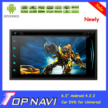 2015 Top DHL Free Shipping Professional 6.2 inch Pure Android 4.2.2 Car DVD Player for Universal With GPS Radio BT Free Map Gift