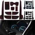 10 unids antideslizante para honda ciudad 2009-2014 accesorios con palabras En Puerta Pegados a los Coches Ranura Taza Ranura Puerta Cojín de la Estera Car-Styling