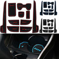 10Pcs Non Slip For Honda City 2009 to 2014 Accessories With Words In Car Stickers Door Groove Cup Gate Slot Mat Pad Car-Styling