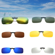 2016 Hot Fashion Unisex Polarized Clip On Sunglasses Driving Night Vision Lens Anti-Uv Sunglasses Clip