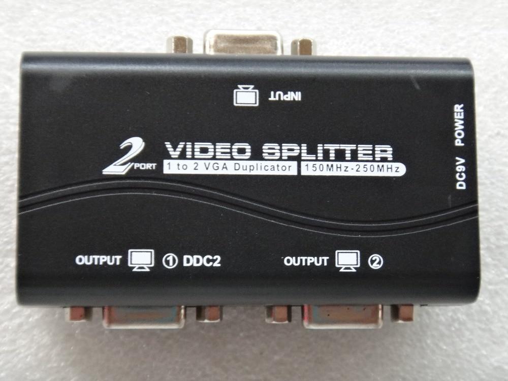 In QualitäT Aufstrebend Neue Ankunft 1 Zu 2 Ports Vga Video Splitter Duplizierer 1-in-2-out 250 Mhz Gerät Stiefel Video Signale 65 M 1920*1440 Auflösung üBerlegene