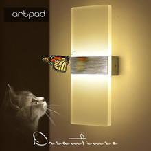 Artpad современный 6 Вт 10 светодиодный алюминиевый настенный