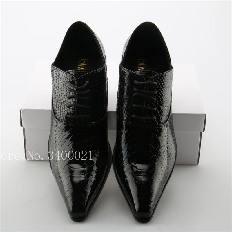 Baixo Apontou Casuais Top Preta Size Sexy As 46 Hot Sapatos Pic Up Praça Crocodilo as Pic Toe Quality Pele Lace De Plus Heel Men xZ0wW6FSq