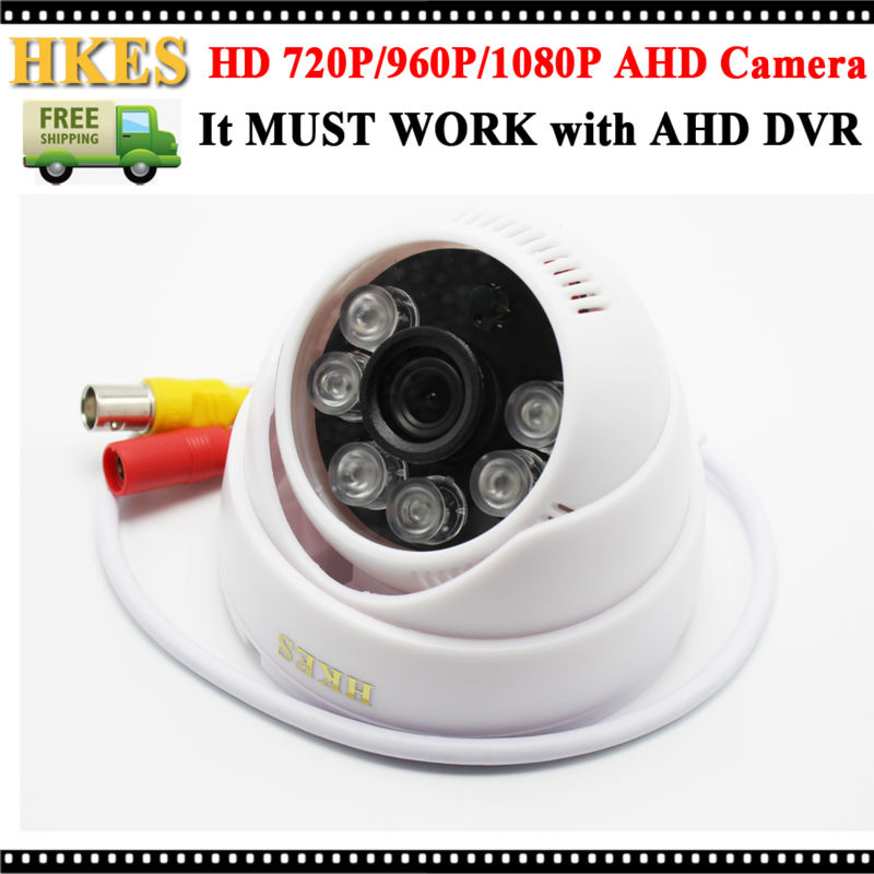 HD 720P 1080P Dome AHD Camera 1/4 CMOS 3.6mm Lens 6Pcs Leds NightVision IR 1.0MP 2.0MP Security CCTV Camera Indoor Use keeper unique deisgn cmos 1 2mp ir mini dome indoor plastic ahd cctv camera 36pcs ir leds 30m distance 3 6 6mm fixed lens