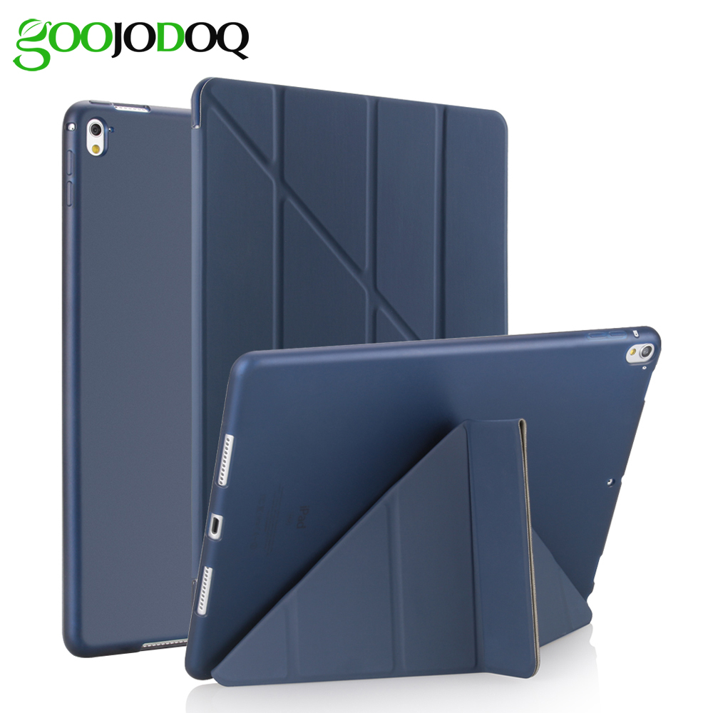 For iPad Pro 10.5 Case A1701 A1709 Transformers Slim PU Leather+Silicone Soft Back Smart Cover for iPad Pro 10.5 inch 2017 Case new luxury ultra slim silk tpu smart case for ipad pro 9 7 soft silicone case pu leather cover stand for ipad air 3 ipad 7 a71